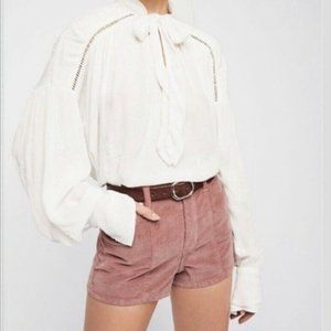 """Small Free People """"Wishful Moments"""" Tie Neck Top"""